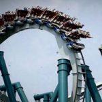 トラウマ映像|遊園地の回転コースターから子供が遠心力で飛ばされる瞬間映像。