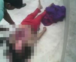 解剖動画|若い女の子の死体の頭をその場で切り開いてスピード解体する映像