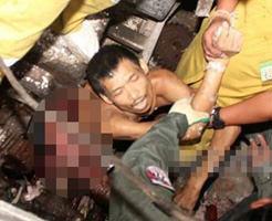 グロ画像|製粉機でトウモロコシを挽いていたら自らも巻き込まれてすり潰されてしまった男性