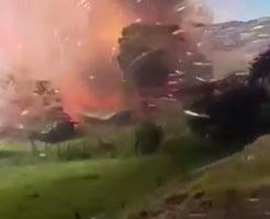 火気厳禁!火の用心!の花火工場で発火して工場が吹き飛ぶ一部始終・・・