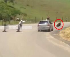 事故映像|山道でヒルダウンのスケート大会してはいけない理由
