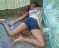 14歳で不倫経験を持つJCが相手の奥さんにバレて射殺された現場