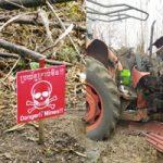 紛争地域で地雷原になっていた土地で農場をしていたらトラックもろとも吹き飛んで・・・