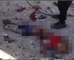 閲覧注意|焼け焦げた少女の死体・・・空爆後のシリアに広がる地獄絵図