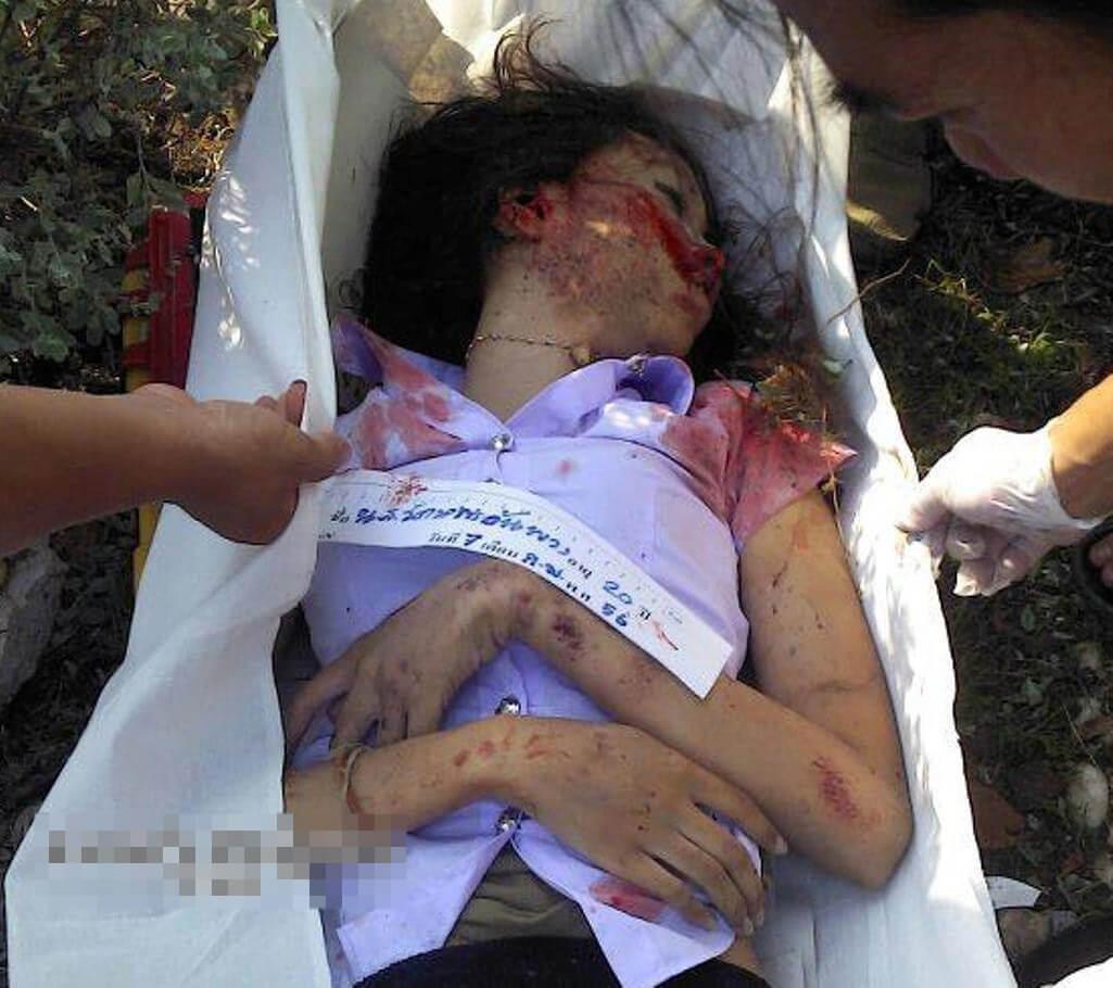 美少女JKがバイク通学中に跳ねられる悲しい事故 そのままグロ死体に・・・