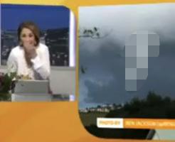 絶対に笑ってはいけない天気予報!チ●コ型竜巻を見た美人キャスター爆笑の渦www