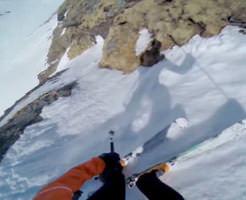 事故|雪山で滑落する瞬間を1人称視点で見るとこんな感じ