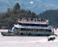 沈没|定員40人に観光客170人を乗せた遊覧船、沈没して9名が死亡=コロンビア