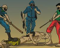 【拷問】「もう二度と悪い事はしません!」強盗犯の心の声が聞こえるお仕置き映像!=ブラジル