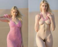【画像】日常の着衣写真の隣に裸の写真があるだけでエロさ増し増しになる風潮w