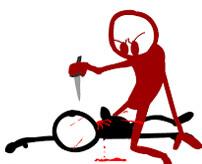 両耳切断、斬首で腹を切り裂き心臓取り出し、ナイフを突き立て処刑