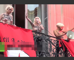 海外デモは金髪美女がおっぱい丸出しでアプローチするボーナスタイムw