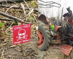 紛争地域の地雷原になっていた土地で農場をしていたらトラクターもろとも吹き飛んで…