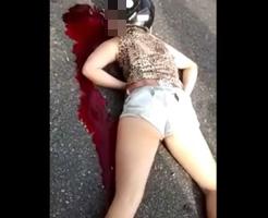 露出度高いホットパンツのまま死んじゃった女の子を撮影してきた…