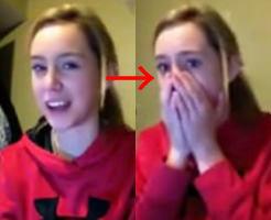 獣姦動画をはじめて見た美少女のリアクションがウブかわいいw