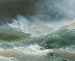 【恐怖】見てて玉ヒュンなるw舷窓まで波打つ中でクルーズしたら生きた心地がしないww