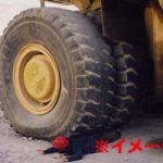 【閲覧注意】大型トラックに轢かれて、いろいろ出てしまう瞬間…