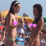 【エロ注意】海外のビーチでは女の人がおっぱい丸出しだと聞いてwカメラ片手に撮影してきたww