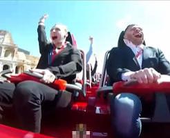 【事故】「ひゃっはー!!!」ノリノリ男性2人 onジェットコースター。3秒後、片方の男性に悲劇が…