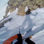 【事故】雪山で滑落する瞬間を1人称視点で見るとこんな感じ