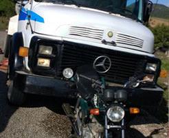 【グロ画像】トラックに引きずられながら摩擦で脚を千切られた女の子の死体