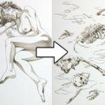美女が腐っていく過程を描いた仏教絵画の九相図