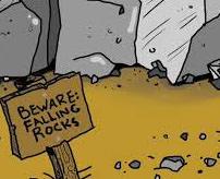 【衝撃】走って逃げたのに岩が頭に…生身の人間に落石が当たるとここまで吹き飛ぶ
