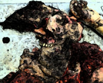 遺体安置所に置いてあったこの死体、工場の機械に巻き込まれたんだってよ…