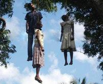 女性の首吊り死体を集めてみた...自殺理由は様々でも表情は同じ