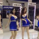 やる気なし!練習なし!美女よし!車の展示場でキャンギャルが魅せるダンスのクオリティを見よ!