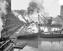 乗客乗員計844人が死亡した当時最悪の規模になったイーストランド客船の海難事故