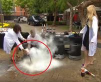 これはエンターテイメント!?生放送中にコーラに液体窒素を入れ爆発、あわや死亡事故に