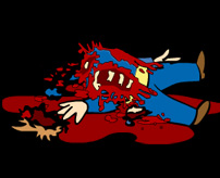 全身を強く打ってレベルの事故死体、飛び出た心臓がまだ動いてる…