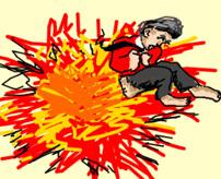 武器の売人さん、ロケット弾を誤って落としてしまい爆死