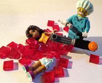 その発想はなかったw殺人、事故、レゴでグロを表現してみた