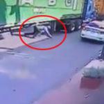 大型トラックの荷台下から近道しようとした男性、頭を踏み潰され人生をショートカット
