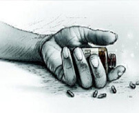 震えながら血を吐き散らして死亡 ← 殺鼠剤飲んで服毒自殺するとこうなる…