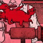 機械に手が巻き込まれてぐちゃぐちゃになったときのレントゲン写真、肉挽き機に手をミンチにされた女性