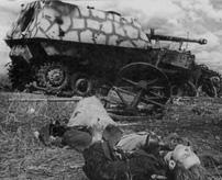 破壊された戦車が墓標に。愛機とともに死亡したWWⅡドイツの戦車乗りetc