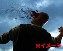 な、んだ…これ???頭から、血?俺??死…?ヘッドショットされた男の主観映像