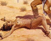 性奴隷にされた女さん、乳首を切除される拷問を受ける