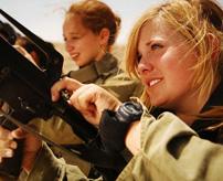女性でも兵役必須!イスラエル国防軍の女性兵士が美人すぎる