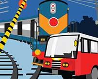 渋滞により大型バスが踏切内で停車→列車が猛スピードで突っ込んできて大惨事へ…