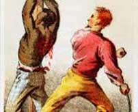 """「ウ""""ァァァッ!ウ""""ェェッ、ウ""""ェェェッ!」盗人を木に縛り付けて鞭で拷問したらあまりの激痛に絶叫を連発…"""