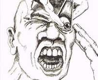 殺害した男性の目の中に指を突っ込んで掻きまわし、平然と遺体の服で血を拭うサイコパス野郎!