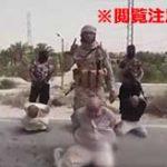 新しいISISの斬首ビデオが流出!いつもの処刑BGMと共に3人の男の首を切断していく…