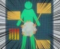 木製リールに乗ってふざけている男→転倒して持っていた手榴弾が爆発→股間がグッチャグチャに…