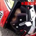 バイク事故で首が切断されてしまった男性、吹っ飛んだヘルメットの中からこちらを見つめていた…