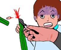 自分の指に向かって斧をドン!抗議の為に自らの指を切り落とすロシア人男性…