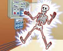 大量の電流が身体に流れて丸焦げに…電柱で作業中に感電してしまうとこうなる…